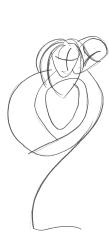berceuse amoureuse / stylo sur rataillon de papier /