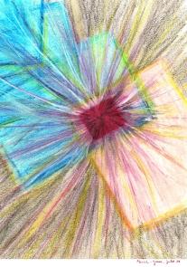 rencontre / juillet 2011 /pastels / 30x24cm